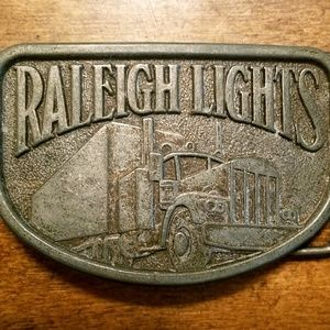 Other - Raleigh Lights 1980's Pewter Belt Buckle  5 oz. 3